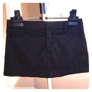 Super short black mini skirt